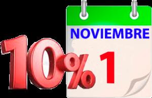 10% de descuento en calendarios hasta el 1 de noviembre