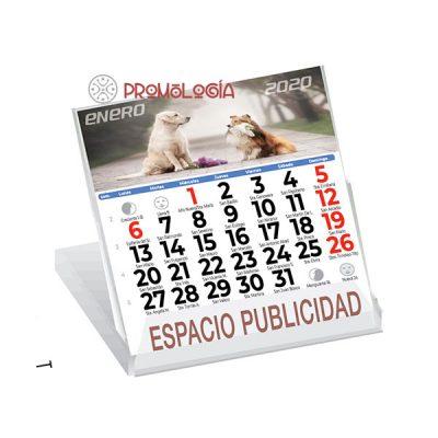 Calendario sobremesa tipo CD