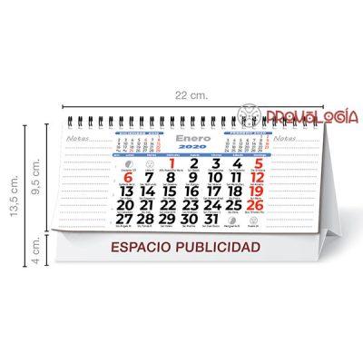 Calendario sobremesa wire