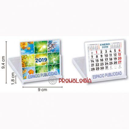 Calendario sobremesa tipo CD neutro