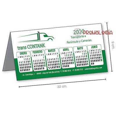 Calendario de PVC de sobremesa