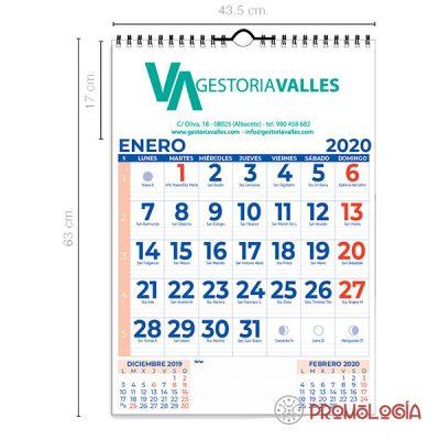 Calendario pared con wire