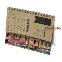 Calendario sobremesa kraft