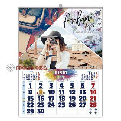 Calendario promocional de pared