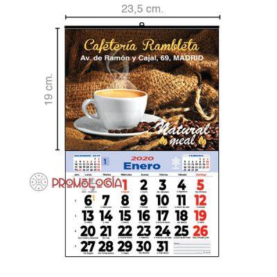 Calendario pared mensual